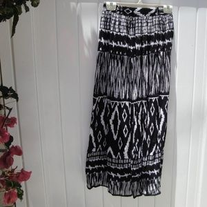 Chaudry KC Black/White maxi skirt S